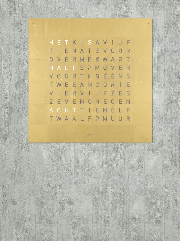 QlockTwo Large Gold Creator's Edition