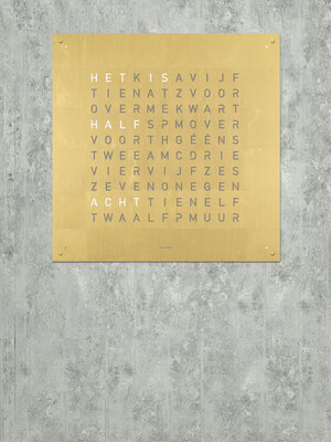 QlockTwo Large Gold Creator's Edition