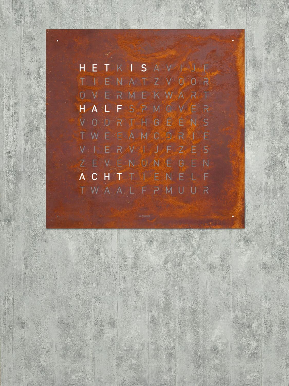 QlockTwo Large Rust Creator's Edition
