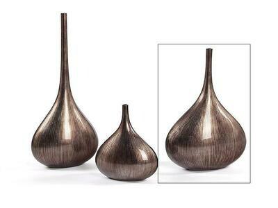 Bottle Vase Line Warm Silver