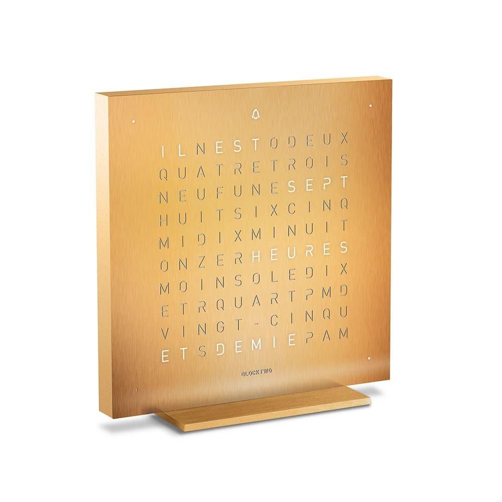QlockTwo Touch Golden Legend
