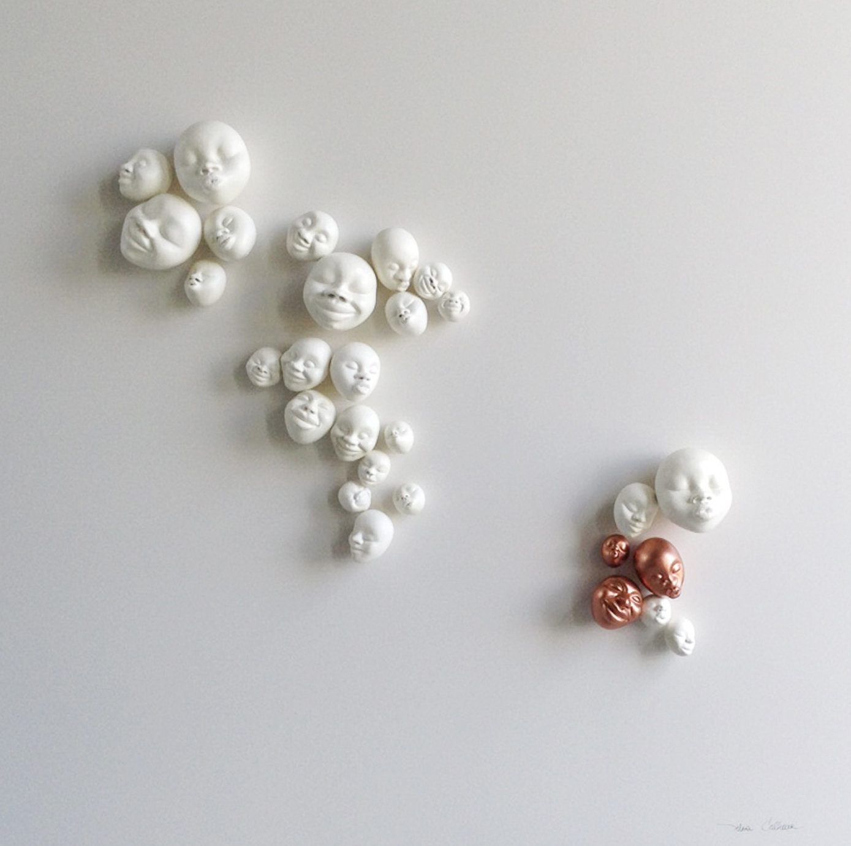 Happy Faces White/Bronze - 2 sets/25 + 3 pcs