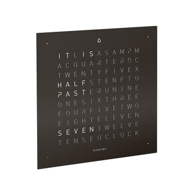 QlockTwo Touch Panel Deep Black