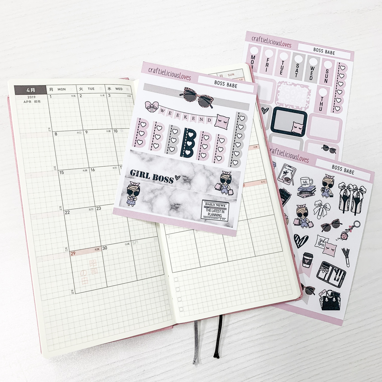 Hobonichi Kit (Boss Babe)