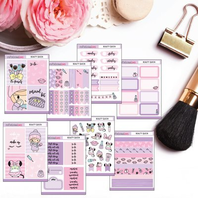 Makeup and Daisy Sticker Kit