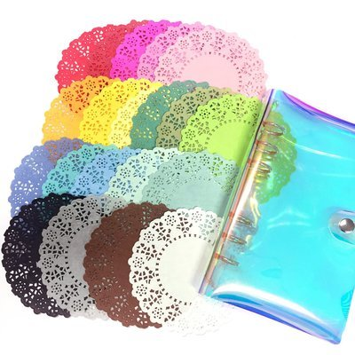 Paper doilies - 20 pieces of different colors