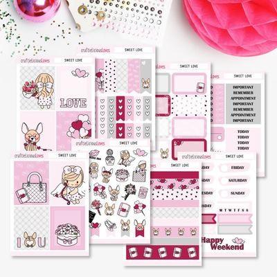 Sweet Love Daisy Sticker Kit