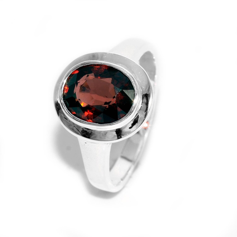Natural Rhodolite Ring Sterling 925 January Birthstone
