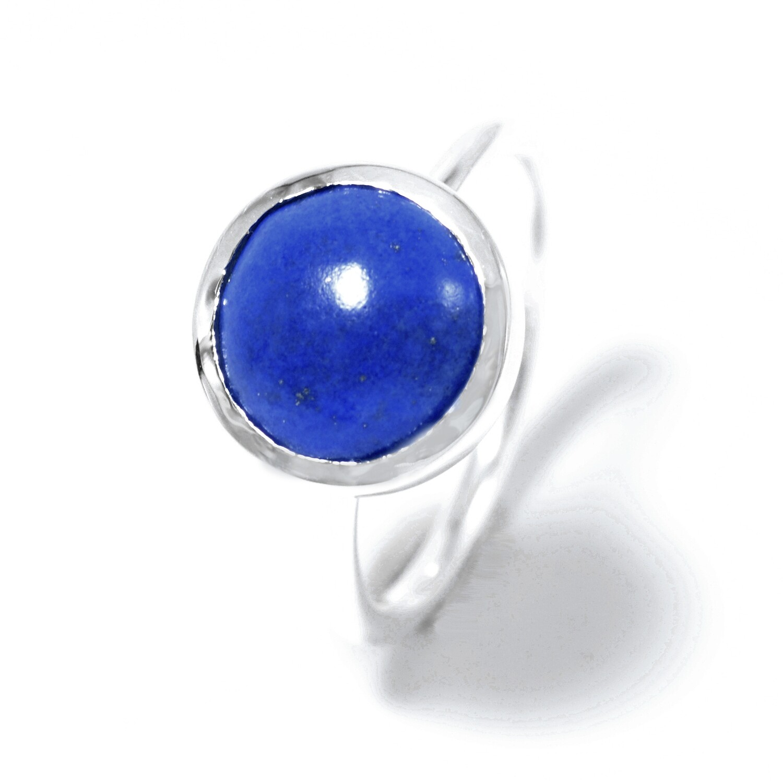 Minimalist Sterling Silver with Lapiz Lazuli