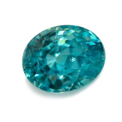 Blue Zircon - 2.47 cts - Loose Natural Gemstone - Oval