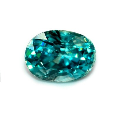 Blue Zircon - 2.91 cts - Loose Natural Gemstone - Oval