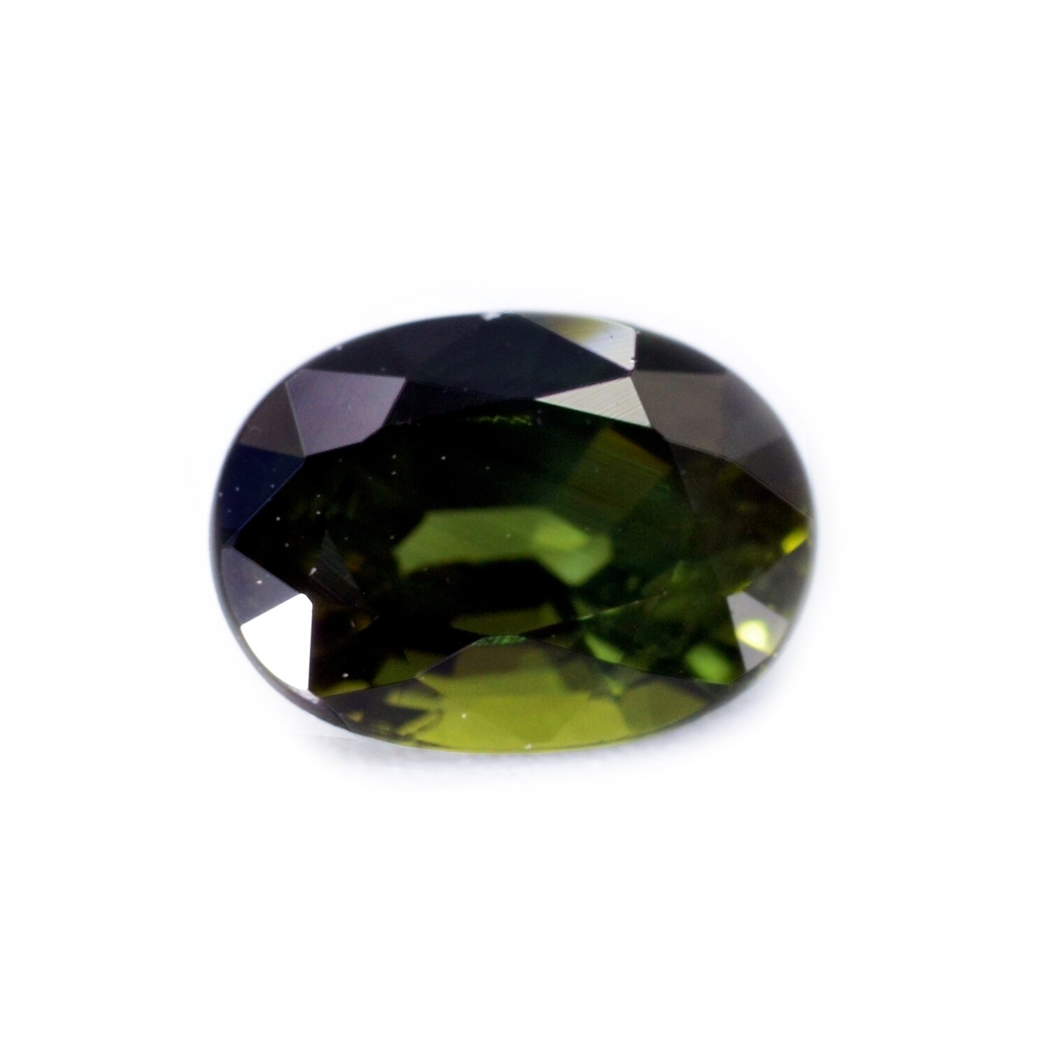 Green Sapphire - 1.30 carat - Loose Natural Gemstone - Oval