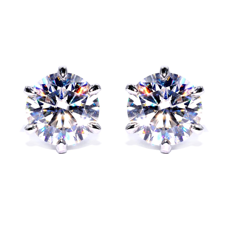 Sparkling Stud Earrings Moissanite