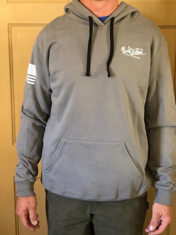 Lightweight gray hoodie