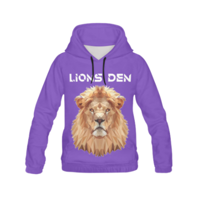 LIONS DEN HOODIE (FULL PRINT FRONT AND BACK)