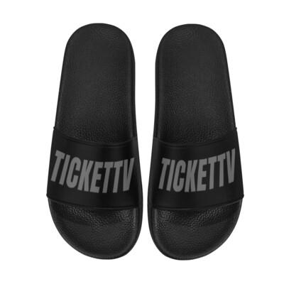 TICKETTV BLACK SANDALS