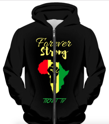 """""""TICKETtv BLACK HISTORY THEME"""" FULL PRINT HOODIES (front and back)"""