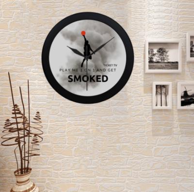 TICKETtv HOOPS SMOKED CUSTOM WALL CLOCK