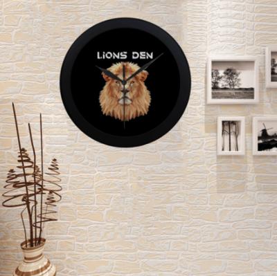 LIONS DEN WALL CLOCK