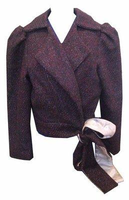 Purple Wool Tie Jacket