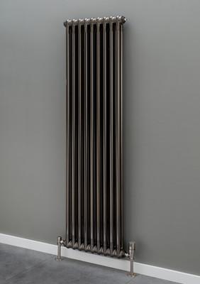 Cornel Vertical Column Bare Metal Lacquer Radiator