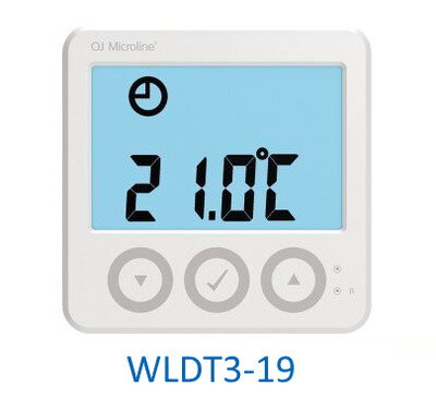 OJ Electronics WLDT3-19 Waterline / Microline Digital Display Room Thermostat Underfloor Heating 5v Rehau