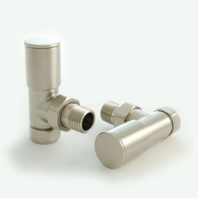 Essential Manual Angle Valve in Brushed Nickel finish