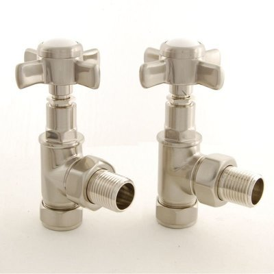 Essential Crosshead Manual Angle Valve in Brushed Nickel finish