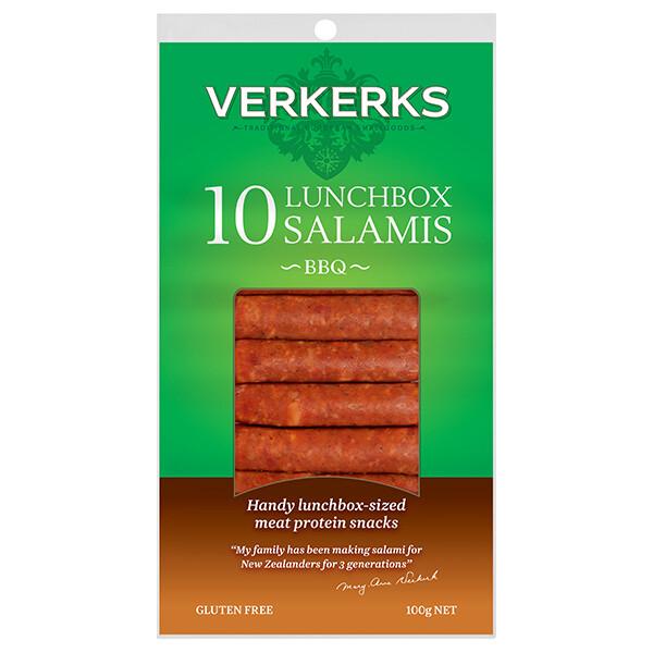 BBQ Lunchbox Salamis 100gm