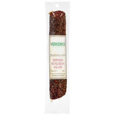 Traditional Aged Peppered Hungarian Salami 200gm