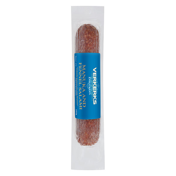 Epicurean Manuka and Fennel Salami 200gm