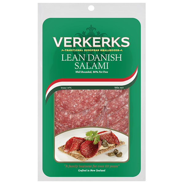 Lean Danish Salami 100gm