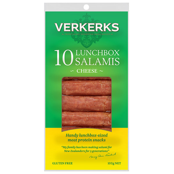 Cheese Lunchbox Salamis 100gm