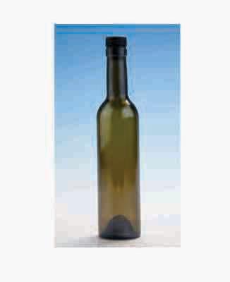 375ml Wine/spirit bottle with plastic cork antique green bottle