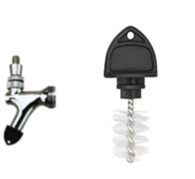 Beer tap plug / cleaning brush