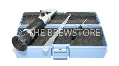 Refractometer (0 to 32% Brix scale. Wort SG: 1.000 ~ 1.120)