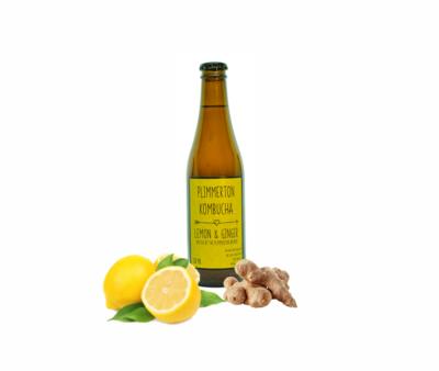 Lemon & Ginger Kombucha 12 pack