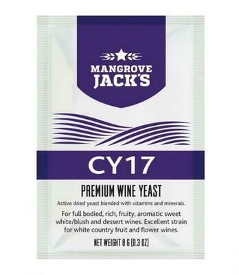 CY17 - sweet white/blush and dessert wine yeast