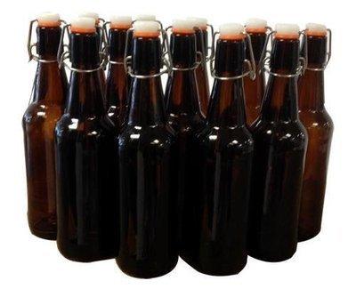 Amber Flip Top Bottle ** 500ml ** (box of 12)
