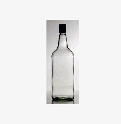Glass Spirit Bottle & Metal Spirit Cap. 1125ml (single bottle)