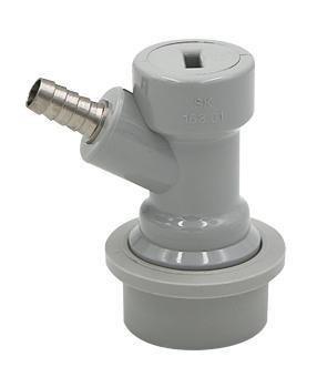 Ball Lock Keg Disconnect Gas Barbed (grey)