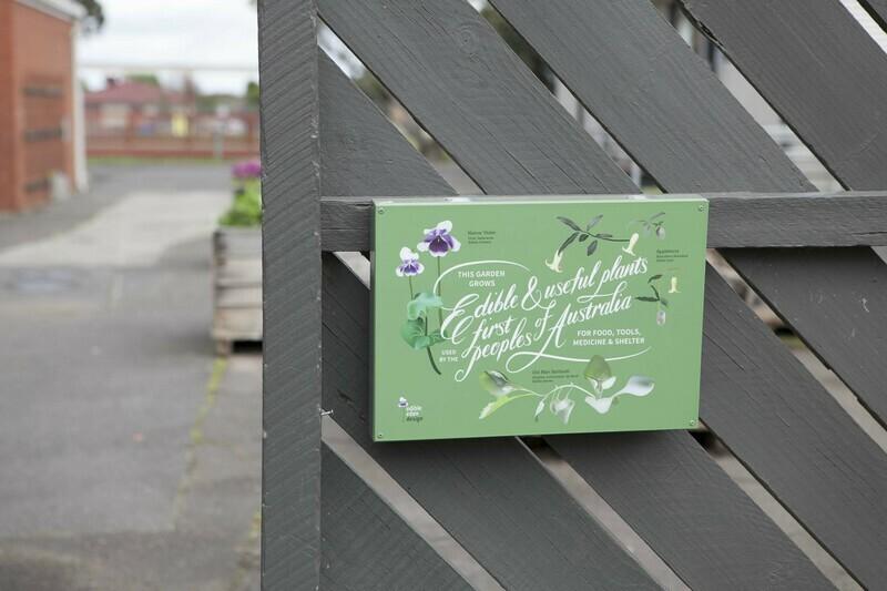 Bush Food Garden Welcome Sign - Metal