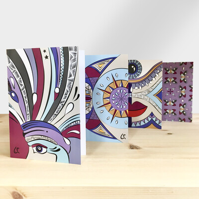 Set Of 4 Wish Cards