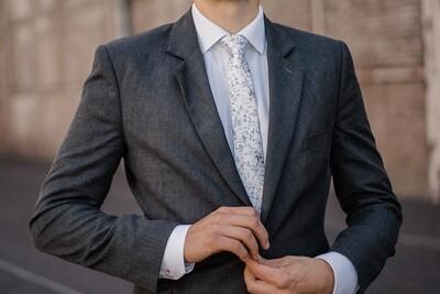 Textile Silk Tie - SPRINKLE Sage