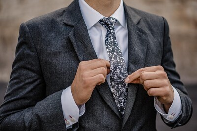 Textile Silk Tie - SPRINKLE black