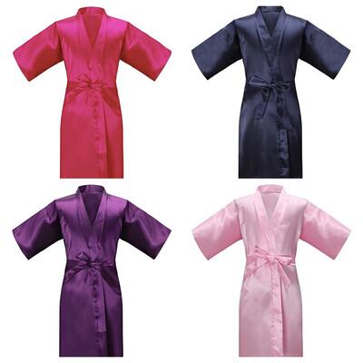 Satin Children Robes