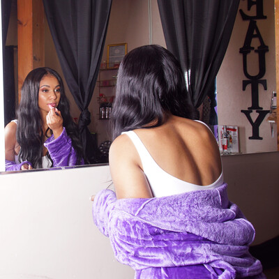Purple Plush Soft Warm Fleece Unisex Robe