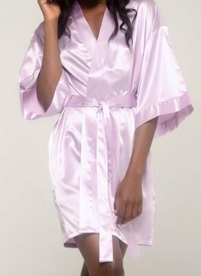 Lavender Satin Kimono