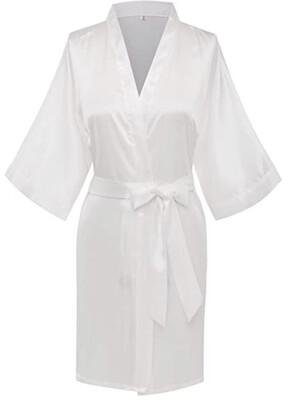 White Satin Kimono