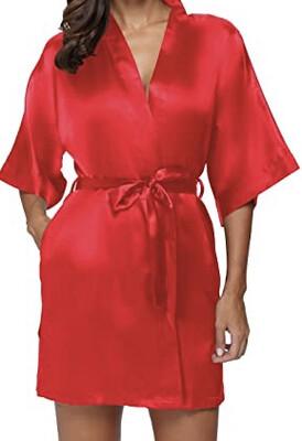 Red Satin Kimono